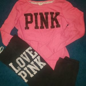 Pink outfit size xs/s